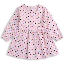 YOUNGER TREE Toddler Baby Girl Dress Long Sleeve Floral Party Princess Skirt Outfit Summer Fall Clothes
