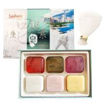 Leshare Luxury Enzyme Soap Collection - Six in One, All Natural, Organic Ingredients, Whitening and Moisturizing Deep Cleansing, Helps Treat Acne, Repairs Skin, Luxurious, Face & Body Women & Men