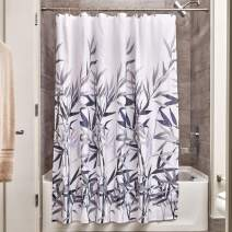 "iDesign Anzu Fabric Shower Curtain, Water-Repellent and Mold- and Mildew-Resistant Liner for Master, Guest, Kid's, College Dorm Bathroom, 72"" x 72"" - Purple and Gray"
