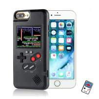 YLANK Gameboy Case for iPhone, Retro 3D Gameboy Design Style Silicone Cover Case with 36 Classic Retro Games,Color Screen Game Cover Case for iPhone 11/X/Xmax/6/6S/7/8/Plus (Black, IPHONE6/6S/7/8)