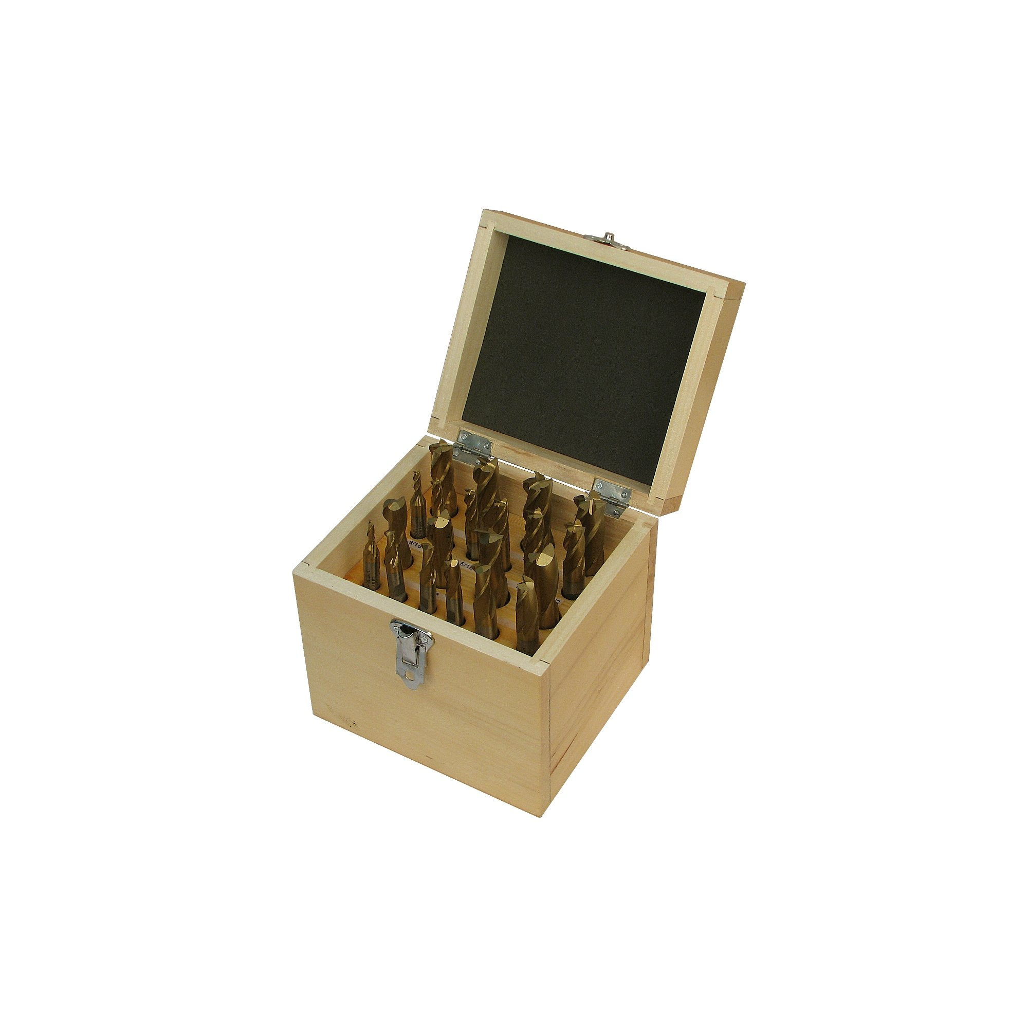 Jet Tools - 20 Piece Tin-Coated Double End Mill Set (650210)