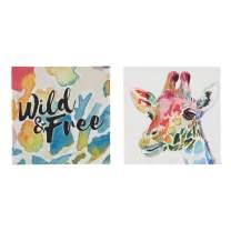 Ashley Furniture Signature Design - Priya Giraffe Wall Art - Set of Two - Youth - Multi-Color
