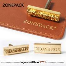 ZONEPACK Custom Logo Hot Foil Stamping Brass Mold Branding Iron Wood Burning Stamp Heating for Leather Wood Paper (Small Than 1''x1'' with 0.19'' Hole on Back)