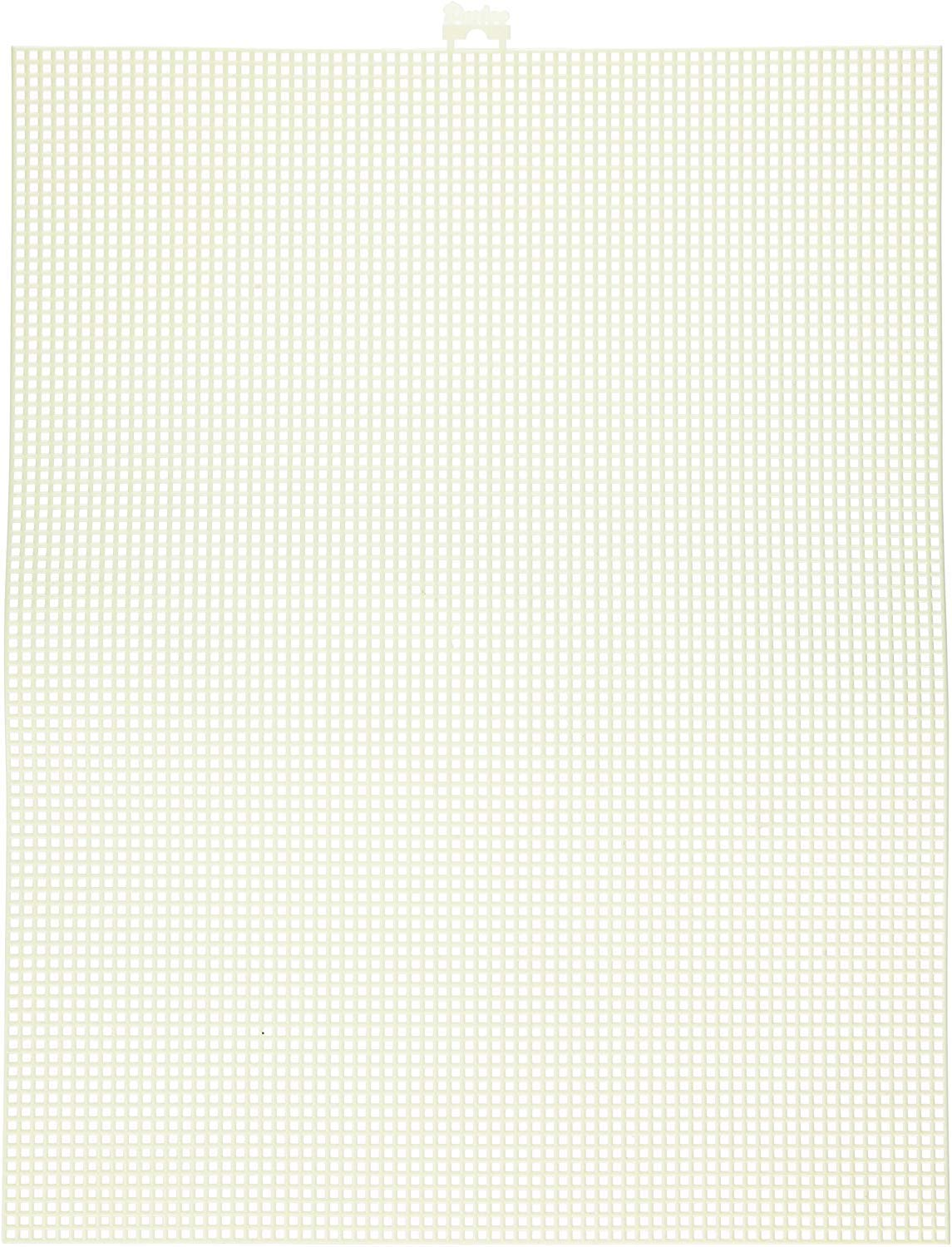 """Darice 7 Mesh Ivory Plastic Canvas – Create a Variety of Fun Plastic Canvas Crafts Including Bookmarks, Picture Frames, Pins and More – 1 Sheet, 7 Holes Per Inch, 10.5""""x13.5"""" Per Sheet"""