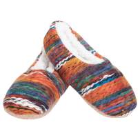Yarn Craft Blend Womens Plush Lined Cozy Non Slip Indoor Soft Slippers