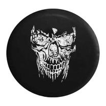 American Unlimited Spare Tire Cover Distressed Grinning Reaper Skull Heavy Mud Tires Cover fits SUV Camper RV Accessories Black 33 Inch