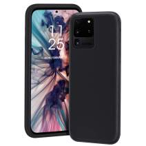 MILPROX Galaxy S20 Ultra Case, Liquid Silicone Gel Rubber Shockproof Slim Shell with Soft Microfiber Cloth Lining Cushion Cover for Galaxy S20 Ultra Phone 6.9 inches (2020)- Black
