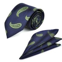 Paisley Men's Necktie Pocket Square Classic Jacquard Woven Neck Ties Gift ciciTree
