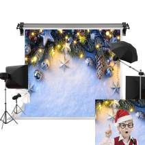 Kate 7x5ft/2.2m(W) x1.5m(H) Holiday Winter Backgrounds Star Portrait Photography Background Snowfield Photo Studio Prop