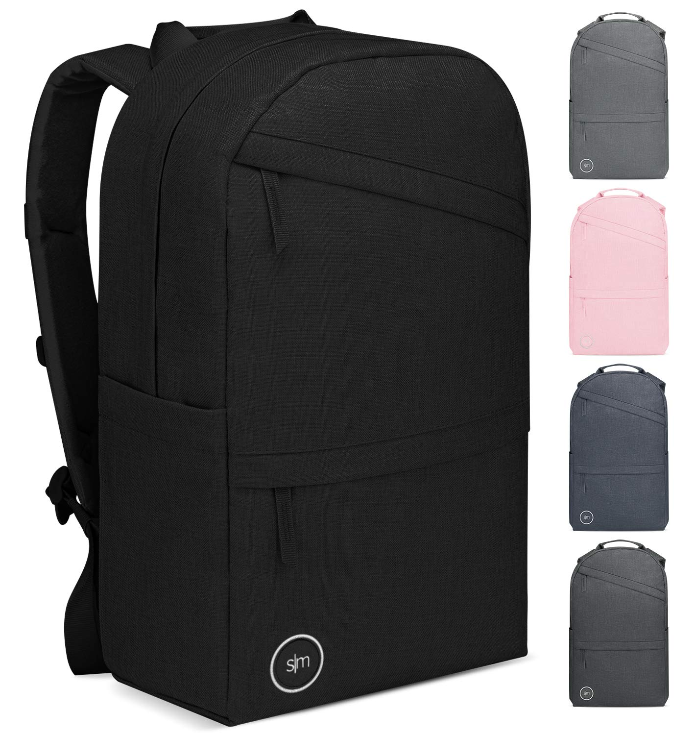 Simple Modern Legacy Backpack, Midnight Black, 15 Liter