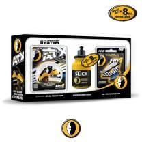 ATX Men's Head Shaving Starter Kit with 8oz HeadSlick Cream, Razor, Blade Refills