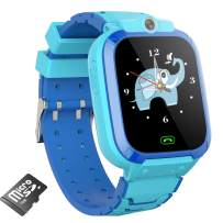 AOYMJRS Kids Smart Watch for Boys Girls, Kids Smartwatch Toy with 14 Games Music Player Camera Video Recording Flashlight Alarm Clock Calculator 12/24 hr Watches for Kids 4-12 Year Old (Blue)