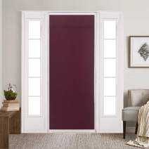 """Rose Home Fashion Blackout Door Curtains for Privacy, Thermal Insulated Door Curtain Panels,Blackout French Door Window Curtains, Energy Efficient Curtain Draperies(26"""" x 68"""" Burgundy)"""