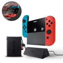 Bionik Power Plate Charging Grip: Compatible with Nintendo Switch, Slim 5500 mAh Battery Pack, Recharge Switch or 2 Joy Cons, Charging Dock, Carrying Bag, USB C Adapter
