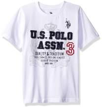 U.S. Polo Assn. Boys' Short Sleeve Embellished Crew Neck T-Shirt