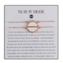 Coolcos You are My Sunshine Necklaces Sun and Moon Mother Necklace from Daughter Sunflower Pendant Friendship Best Friend Necklaces Love Gifts