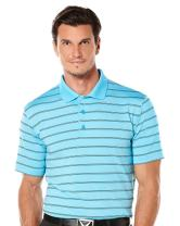Callaway Men's Opti-Vent Short Sleeve Striped Polo