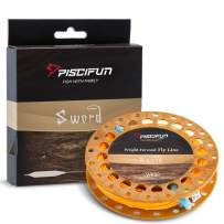 Piscifun Sword Fly Fishing Line with Welded Loop Weight Forward Floating Fly Line WF1 2 3 4 5 6 7 8 9 10wt 90 100FT
