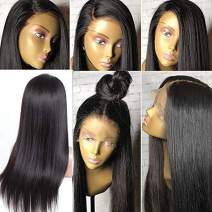 """Brazilian Virgin Human Hair Wig for Black Women Glueless Full Lace Wigs Human Hair with Baby Hair Silky Straight Full Lace Human Hair Wigs Straight Full Lace Wig Pre Plucked 150% Density 18"""""""