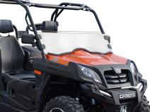 SuperATV Heavy Duty Clear Scratch Resistant Half Windshield for CFMOTO UForce 800 (2014+) - Installs in Minutes!