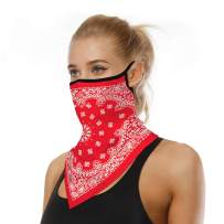 Face Scarf Neck Gaiter Ear Loops Bandanas for Women Men UV Wind Outdoor Cycling Hanging Balaclava face mask