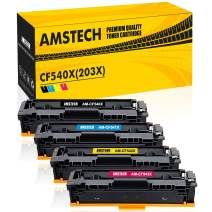 Amstech Compatible Toner Cartridge Replacement for HP M281fdw HP 202A CF500A CF501A CF502A CF503A 202X Toner for HP M281cdw M254dw HP Color Laserjet Pro MFP M281fdw M254dw M281cdw M281 Toner (4 Packs)