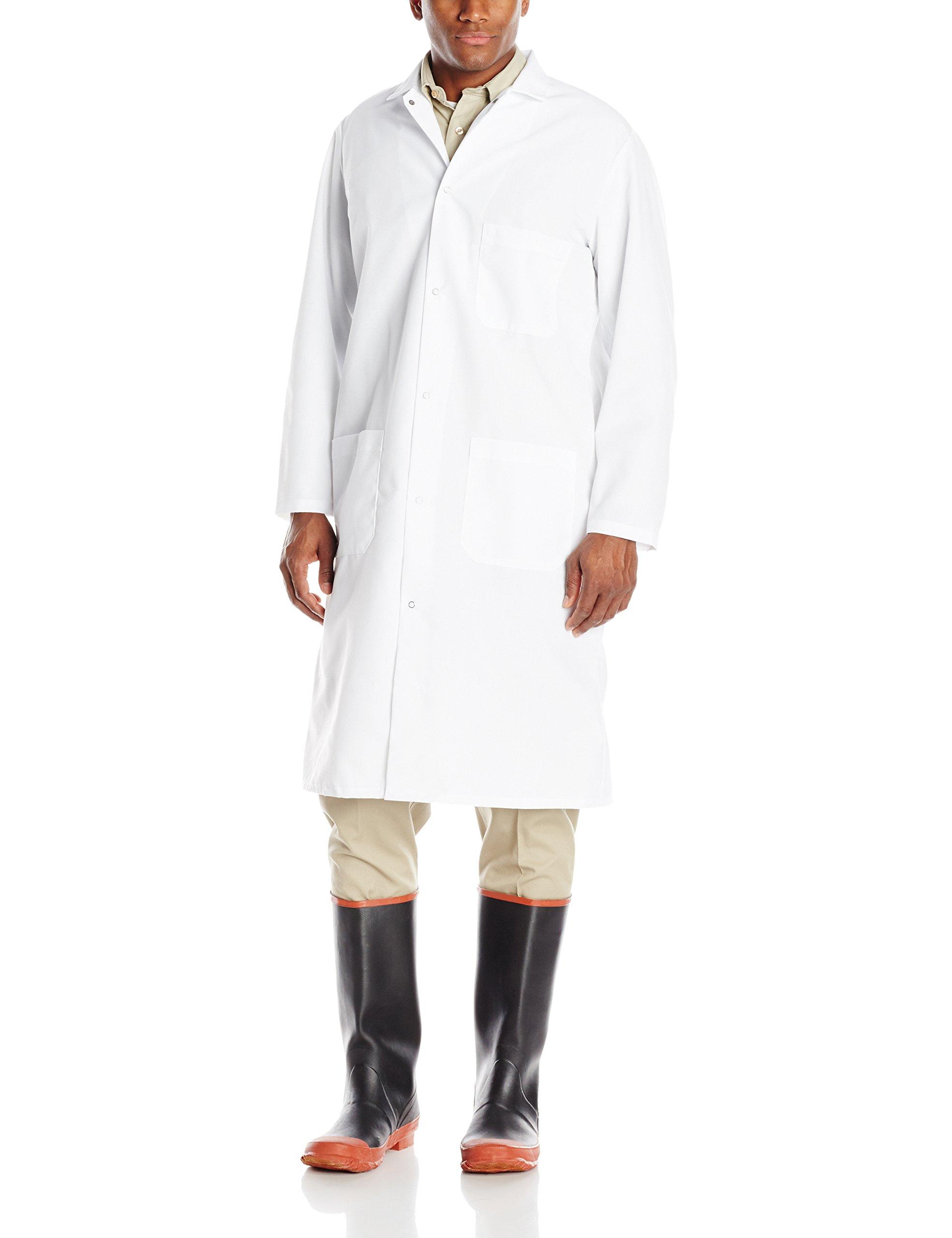 Red Kap Men's RK Gripper Front Spun Polyester Butcher Coat