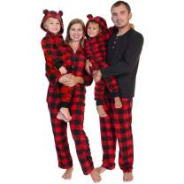 Angelina Cozy Fleece Pajama in Matching Family Set with Buffalo Design