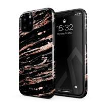 BURGA Phone Case Compatible with iPhone 11 PRO - Rich Rose Gold and Black Marble Cute Case for Woman Heavy Duty Shockproof Dual Layer Hard Shell + Silicone Protective Cover