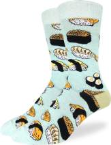 Good Luck Sock Men's Sushi Socks - Green, Adult Shoe Size 7-12