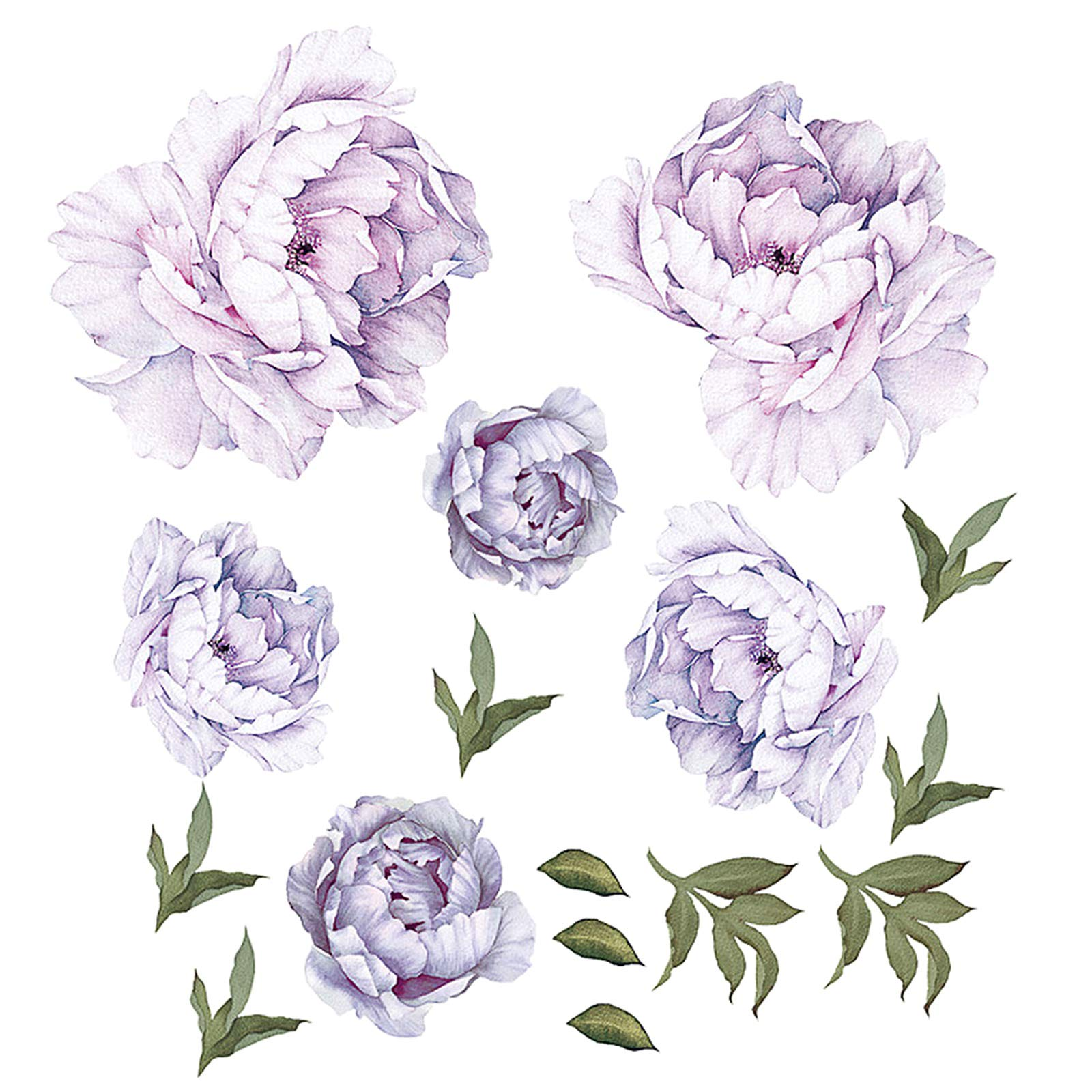 Gigicloud Purple Peony Flowers Wall Stickers for Kids Room Living Room Bedroom Home Decoration Wall Decal,Bathroom,Kitchen Home Decoration