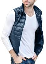 HENGJIA Men's Lightweight Packable Sleeveless Down Puffer Coat Fall and Winter Vests