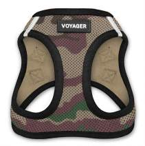 """Best Pet Supplies, Inc. Voyager Step-In Air Dog Harness - All Weather Mesh, Step In Vest Harness for Small and Medium Dogs by Best Pet Supplies - Army Base, Medium (Chest: 16"""" - 18"""") (207-AMB-M)"""