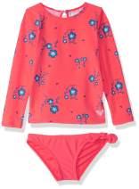 Roxy Girls' Chill After Long Sleeve Rashguard Swimsuit Set