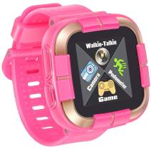 iGeeKid Kids Smart Watch, [AR Pro Edition] Game Smartwatch for Ages 3-12 Girls Boys Toddlers Digital Wristbands, 1.5'' Screen Camera Pedometer Alarm Clock Timer Learning Toys Birthday Gifts - Pink