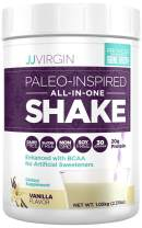 JJ Virgin Vanilla Paleo-Inspired All-in-One Shake - Paleo + Keto-Friendly Protein Powder (30 Servings, 2.31 Pounds)