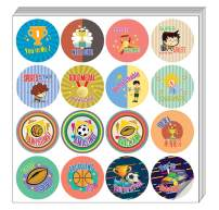 Creanoso Sports Merit Stickers for Kids (20-Sheet) – Athletes Gift Stickers – Awesome Stocking Stuffers Gifts for Boys, Girls, Teens – Cool Wall Art Table Décor – Great Rewards Pack