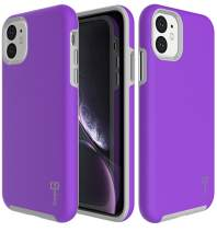 CoverON Slim Protective Hybrid Rugged Series for iPhone 11 Case (2019), Pretty Purple