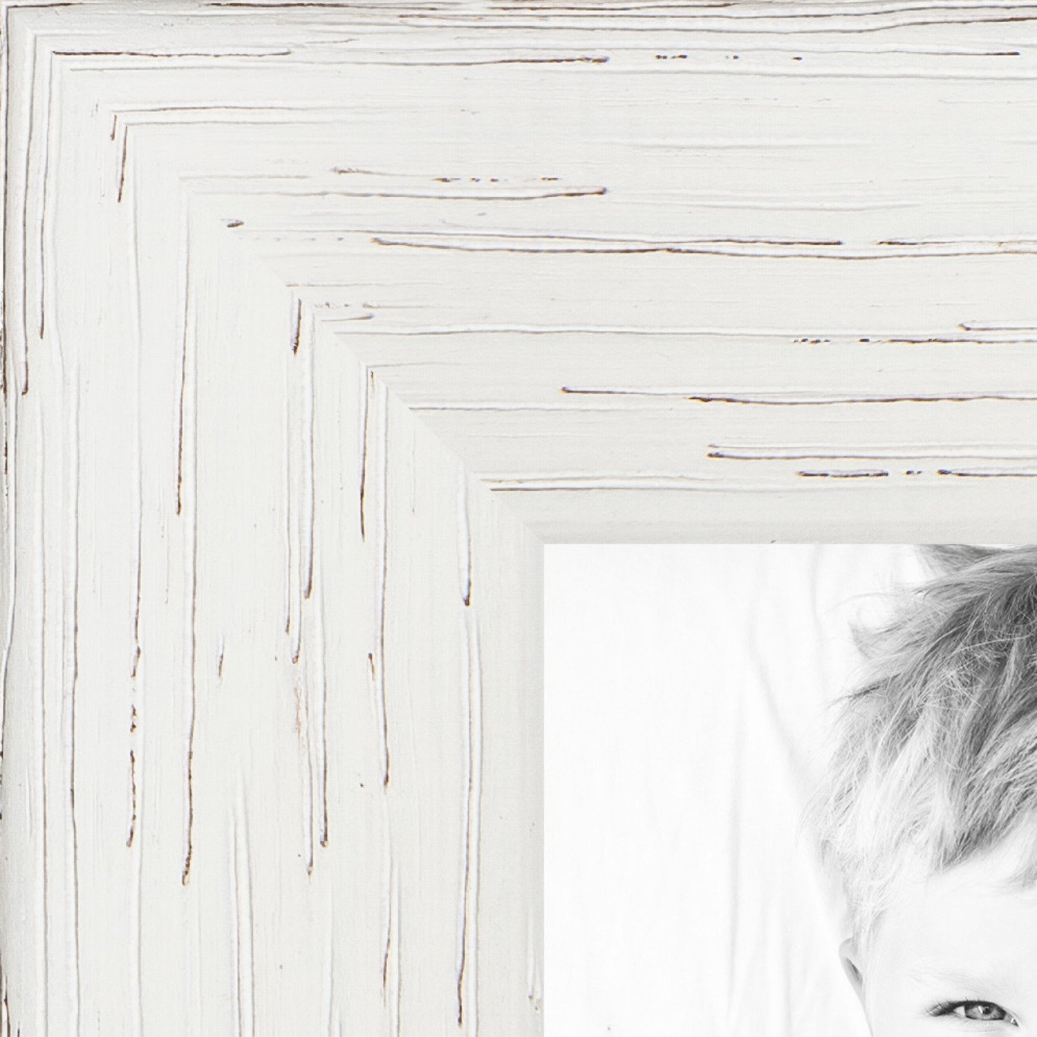 ArtToFrames 5x23 inch White Stain on Red Oak Wood Picture Frame, 2WOM0066-81784-YWHT-5x23