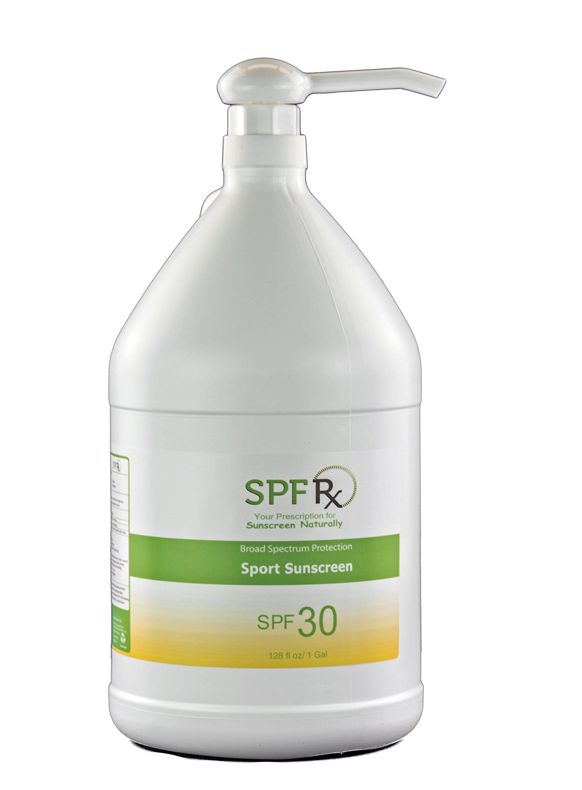 Broad Spectrum Protection Sport Sunscreen SPF 30 – Best For Golfing, Snowboarding, Gardening, Surfing - Sport Sunblock Decreases the risk Skin Cancer, Aging & Sunburn – Bulk for Face & Body (1 Gallon)