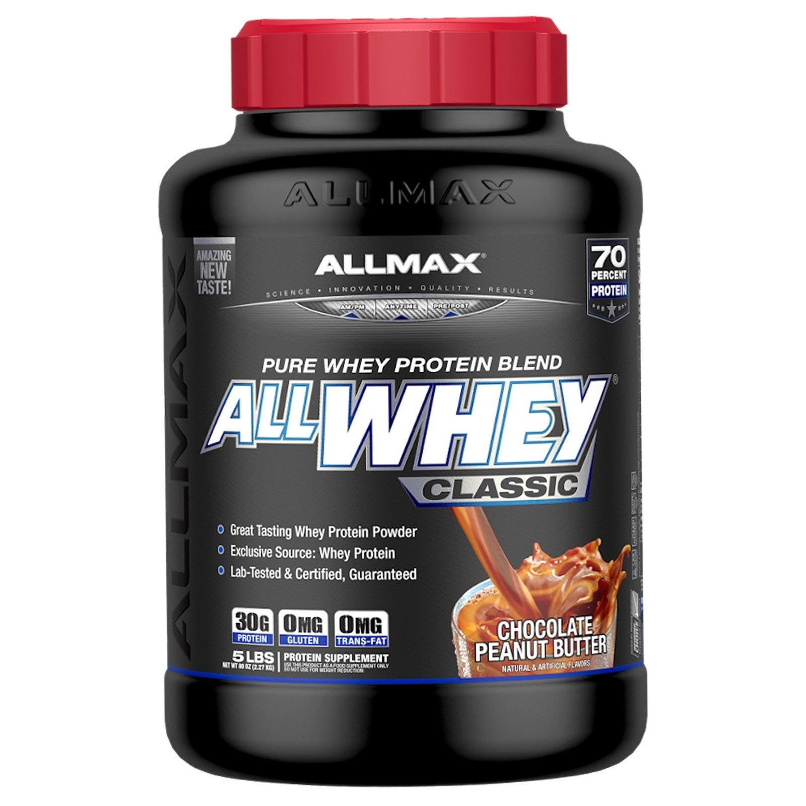 ALLMAX Nutrition AllWhey Classic 100 Whey Protein Chocolate Peanut Butter 5 lbs 2 27 kg