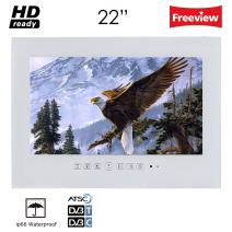 Soulaca 22 inch White Waterproof Bathroom Salon LED TV T220FN