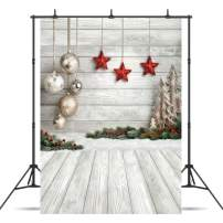 Dudaacvt 5X7ft Christmas Backdrop Xmas Tree Christmas Balls Vinyl Photography Backdrop Customized Photo Background Studio Prop D0470507