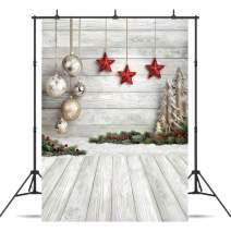 Dudaacvt 5X7ft Christmas Backdrop Xmas Tree Christmas Balls Vinyl Photography Backdrop Customized Photo Background Studio Prop D0470507