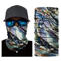 Longwu Men & Women Seamless Oil Painting Style Face Mask Bandanas Scarf for Dust, Wind, UV Sun, Outdoors, Festivals, Sports