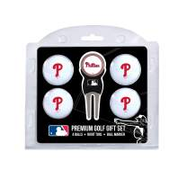 Team Golf MLB Regulation Size Golf Balls (4 Count) & Divot Tool with Removable Double-Sided Magnetic Marker