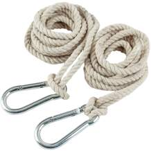 2 Tree Swing Hanging Straps Cotton Hammock Rope 13 FT Each with Heavy Duty Carabiner Hooks Kit for Camping or Tire Playground Accessories - Safer Extension Conversion / Easy Setup Indoor Outdoor