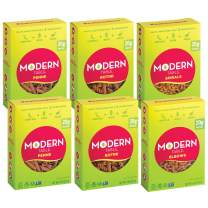 Modern Table Gluten Free, Complete Protein Lentil Pasta, Variety Pack (Spirals, Elbows, Penne, Rotini), 6 Count