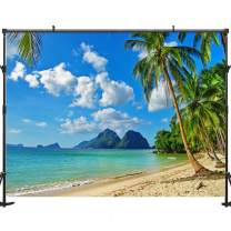 Allenjoy 5x3ft Beach Backdrop Tropical Backdrop Tropical Beach Backdrop Beach Backdrops for Photography Summer Beach Decorations for Party