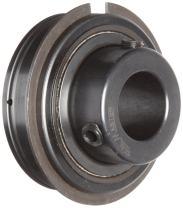 "Sealmaster ER-48 Cylindrical OD Bearing, Setscrew Locking Collar, Light Contact Felt Seals, 3"" Bore, 140 mm OD, 3-1/4"" Width"